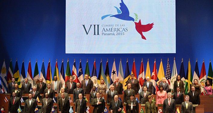 Cerimônia de abertura da 7a Cúpula da Américas no Panamá