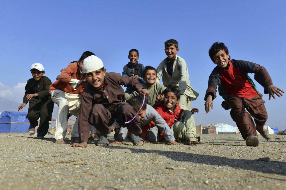 Crianças afegãs em Jalalabad
