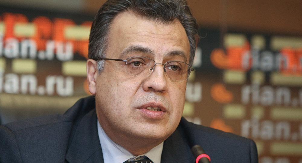 Uma conferência de imprensa de Andrei Karlov na RIA Novosti