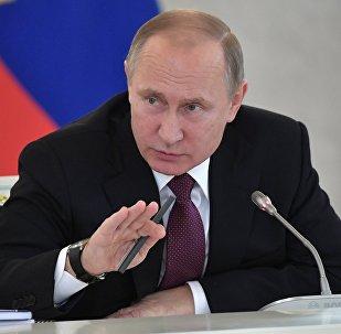 Presidente russo, Vladimir Putin (foto de arquivo)