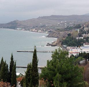 Vista da costa da Crimeia