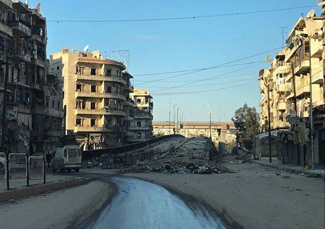Um bairro de Aleppo libertado dos rebeldes armados (Arquivo)