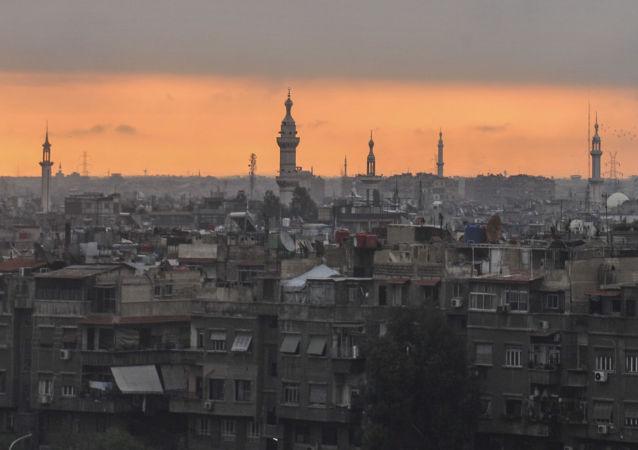 Amanhecer em Damasco, capital da Síria