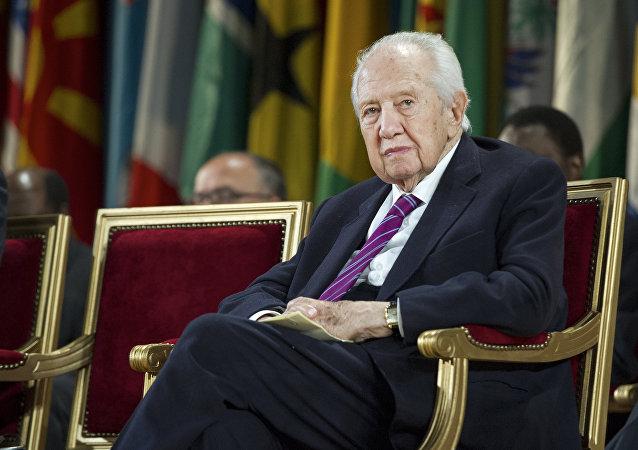 Mário Soares, ex-presidente de Portugal, durante uma cerimônia na sede da Unesco, em Paris, em 5 de junho de 2013