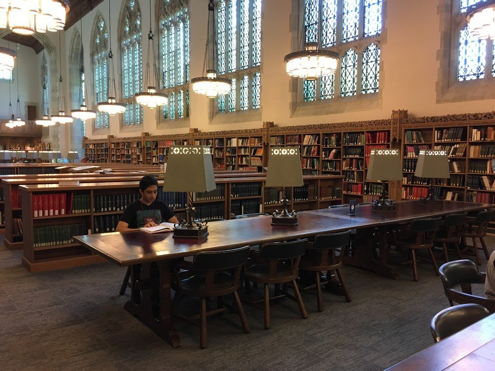 André na Biblioteca de Yale
