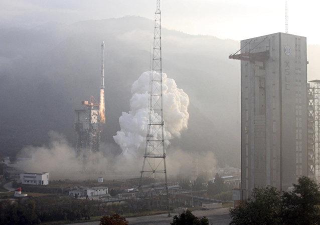 Os dois satélites Gaojing-1 01/02 lançados do cosmódromo de Taiyuan, na província de Shanxi, pelo foguete espacial Longa Marcha-2D