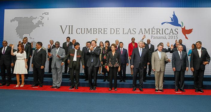 Foto oficial dos presidentes da 7ª Cúpula das Américas