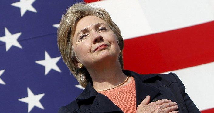 Ex-secretária do país de Estado dos EUA, Hillary Clinton