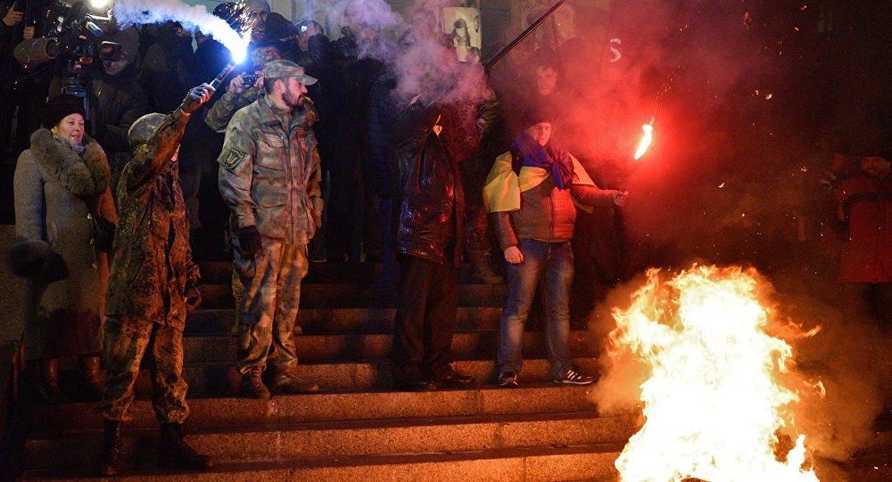 Aniversário dos acontecimentos em Maidan