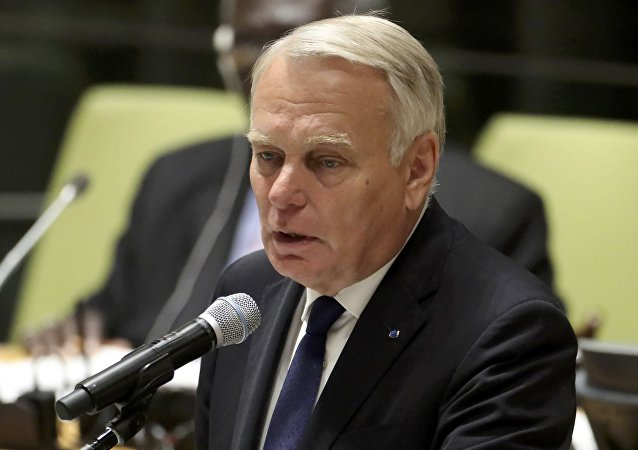 France's Minister for Foreign Affairs Jean-Marc Ayrault speaks during a high-level meeting on addressing large movements of refugees and migrants at the United Nations General Assembly in Manhattan, New York, US September 19, 2016.