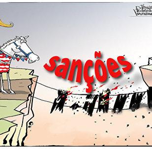 Tinha umas sanções no meio do caminho...