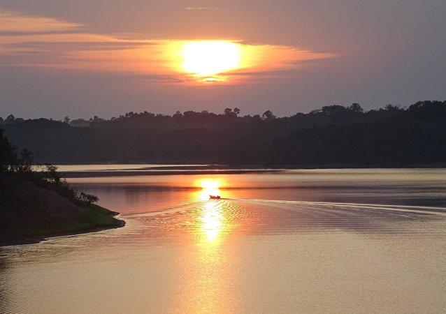 Pôr do sol em Manacapuru