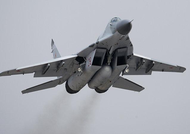 Caça Mig-29SMT durante testes (arquivo)