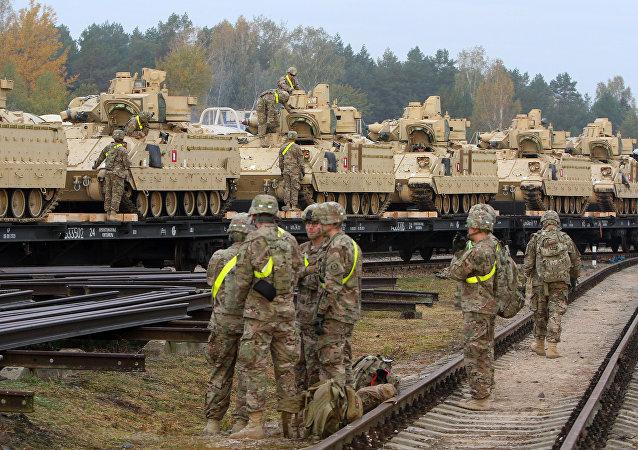 Militares dos EUA na Lituânia (arquivo)