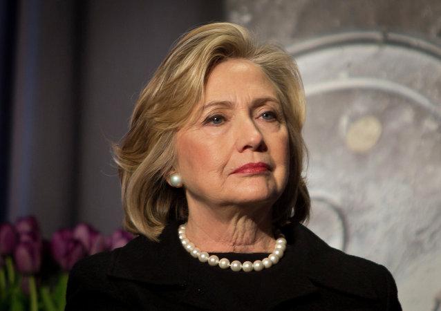 Hillary Clinton, ex-secretária de Estado norte-americana e candidata à presidência pelo Partido Democrata