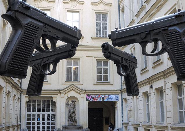 Instalação Armas na República Tcheca