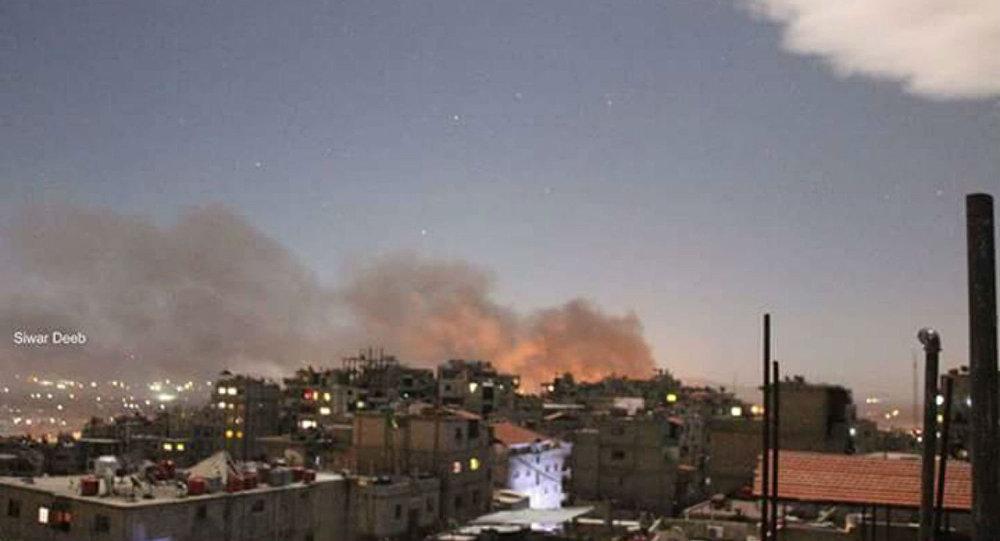 Explosões em Damasco durante ataque a centro da cidade em março de 2017