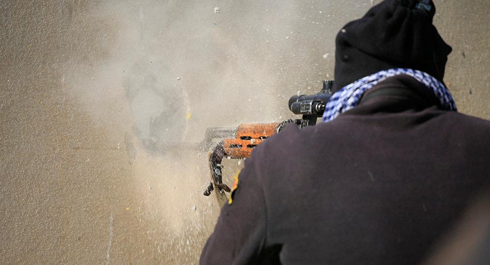 Combatente iraquiano em Mossul