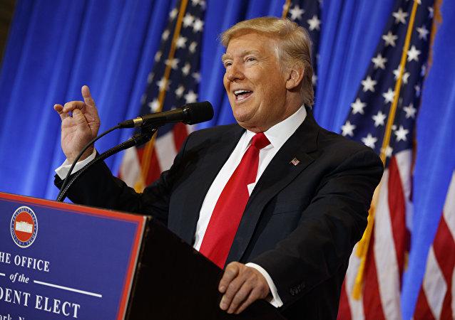 Presidente eleito dos EUA, Donald Trump