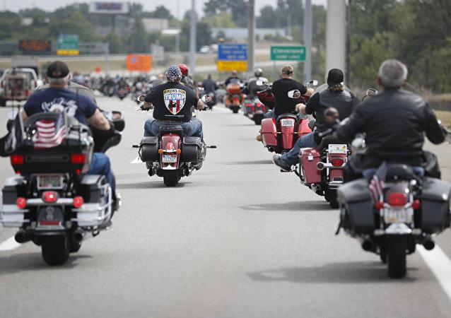 """Membros do grupo """"Motoqueiros a favor de Trump"""""""