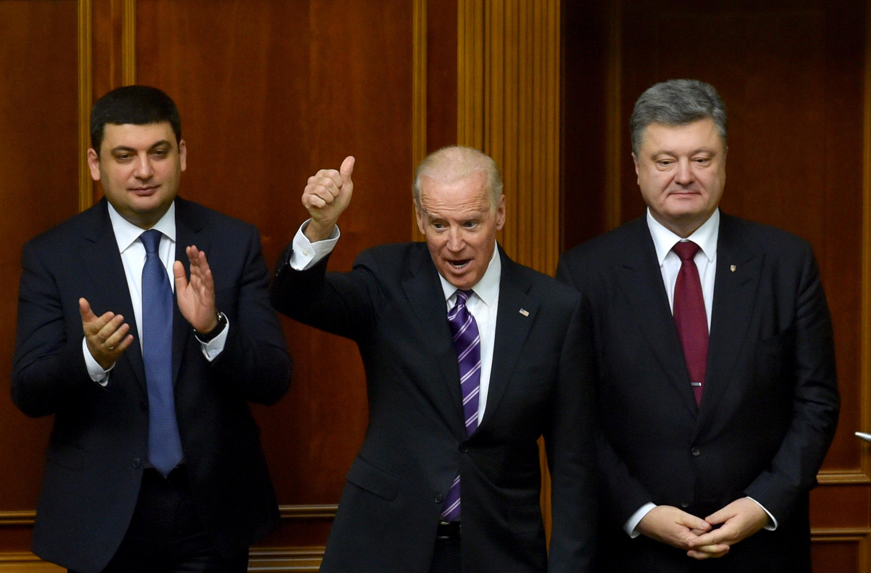 Vice-presidente dos EUA, Joe Biden, em reunião da Suprema Rada, em Kiev