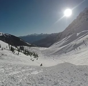 Praticante de snowboard sobrevive avalanche