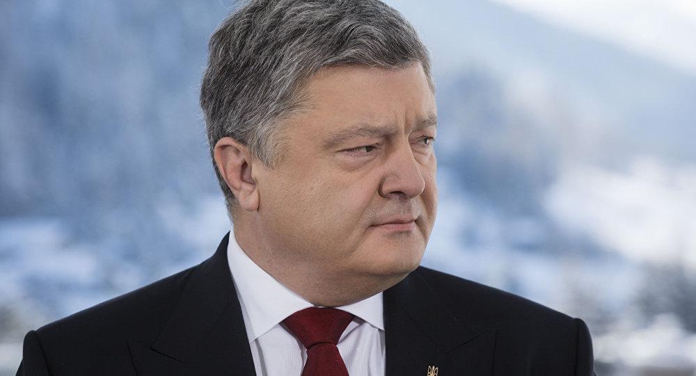 Presidente ucraniano Pyotr Poroshenko durante entrevista para a agência Bloomberg em Davos, Suiça, 17 de janeiro de 2017