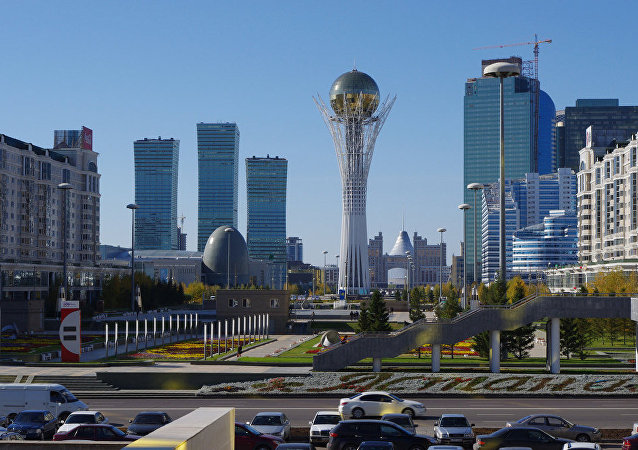 Centro de Astana, capital do Cazaquistão
