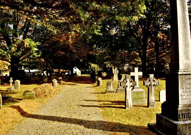 Um cemitério