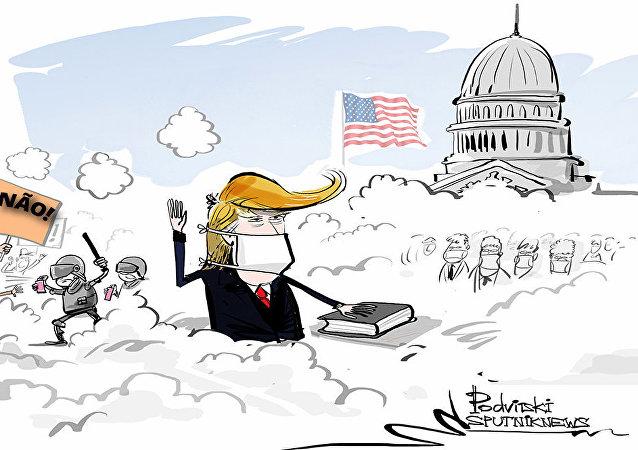 Tomada de posse intensa: Washington cercada pelo caos