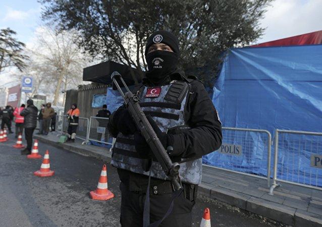 Polícia turca em Istambul