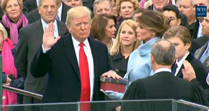 Donald Trump se torna presidente dos Estados Unidos