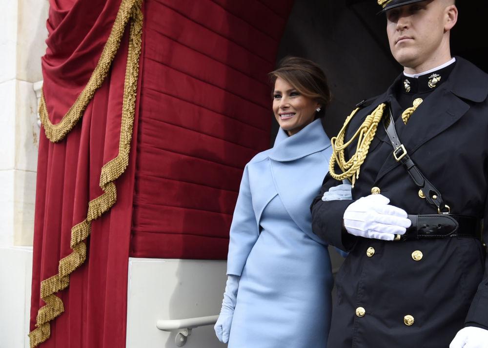 Melania Trump chega à cerimônia