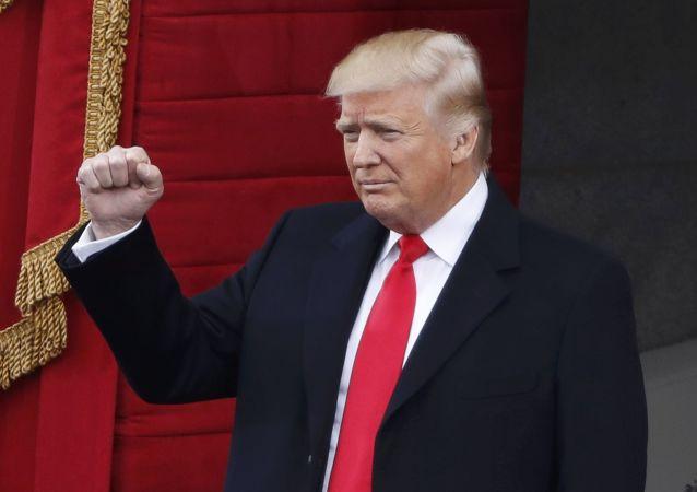 Donald Trump antes da cerimônia