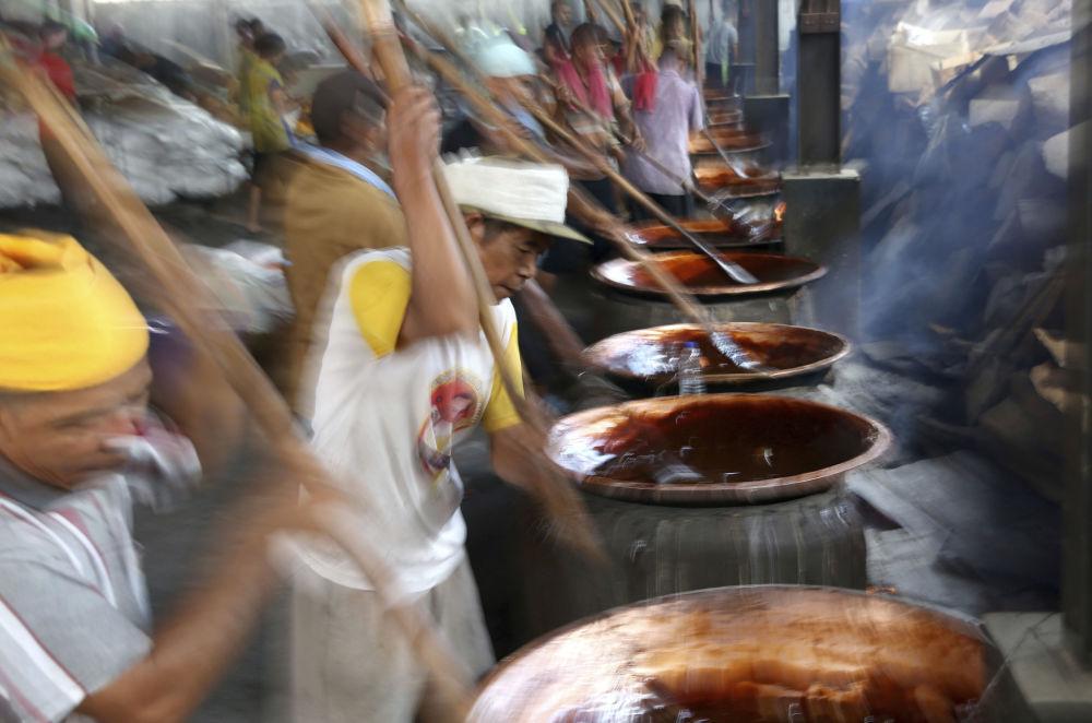 Preparativos para festa do Ano Novo chinês em Jakarta, Indonésia