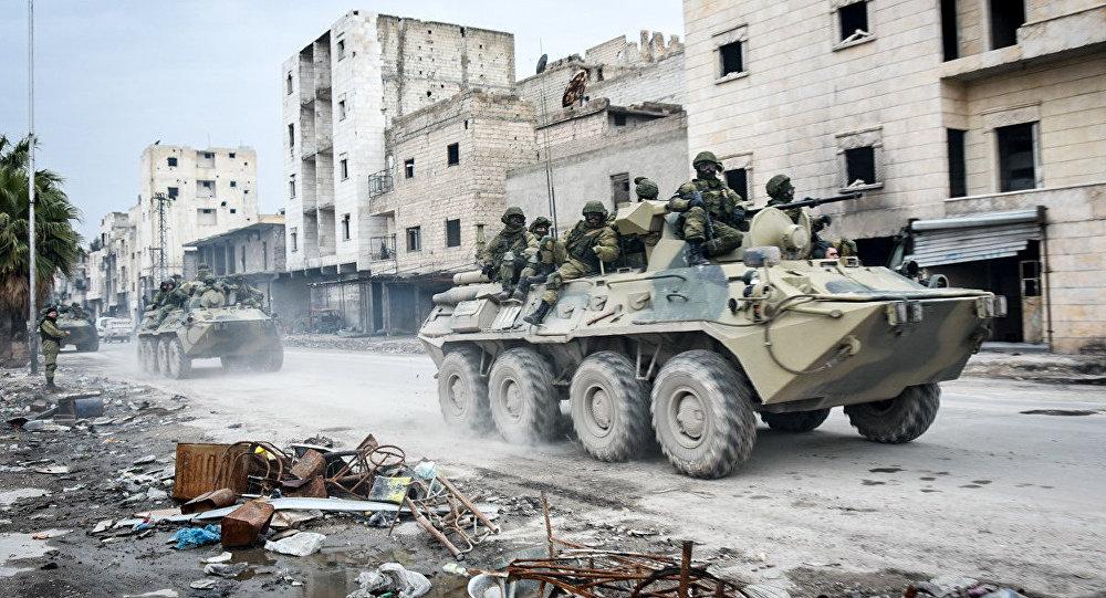 Engenheiros militares russos na Síria