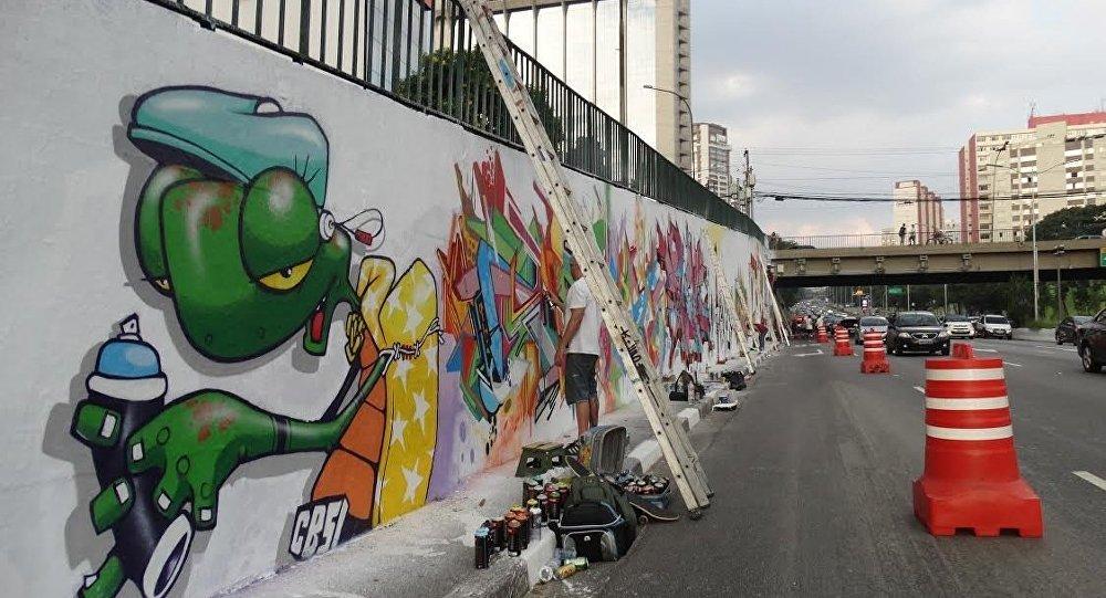 Grafites de Binho Ribeiro em São Paulo