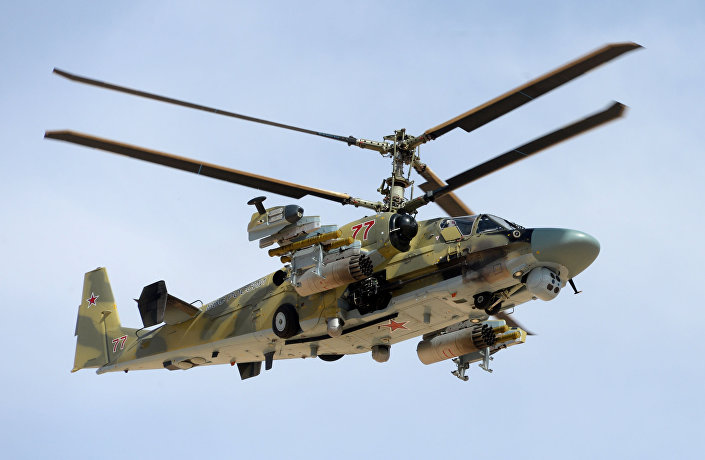 Helicóptero russo Ka-52 Alligator