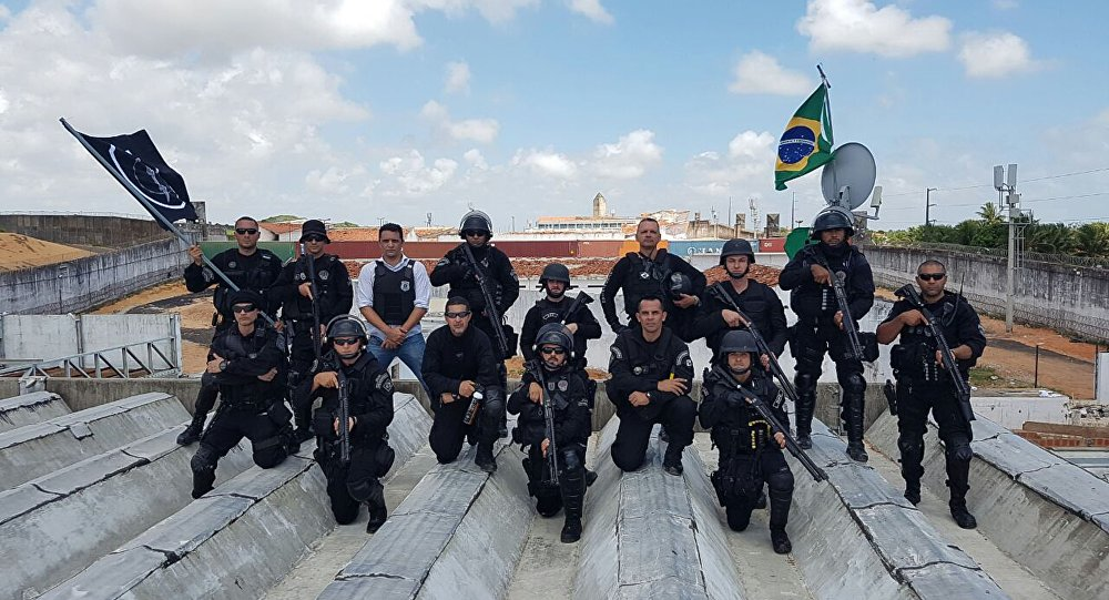 Operação de retomada e controle da Penitenciária Estadual de Alcaçuz, em Natal