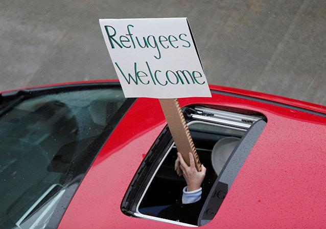 Protestos por refugiados nos EUA