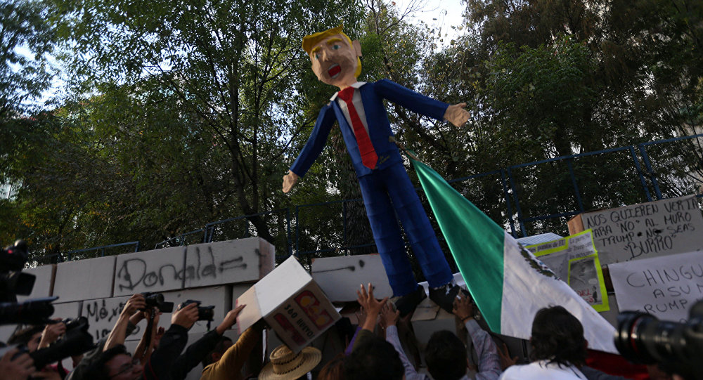 Protestos contra Donald Trump na Cidade do México