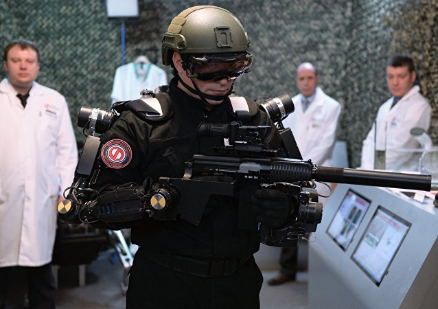 Apresentação do exoesqueleto militar o Conselho da Federação da Rússia, em Moscou