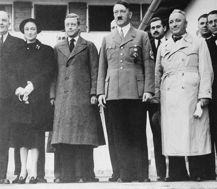 Visita do duque de Windsor, Eduard, a Adolf Hitler. Alemanha 1937