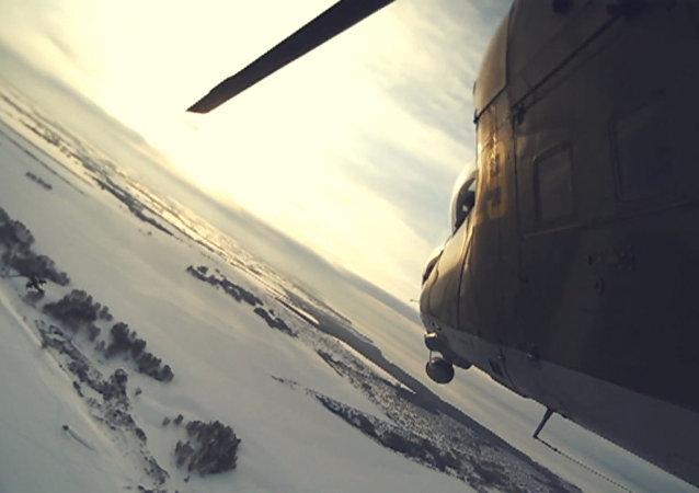 Voos de treino de Mi-24