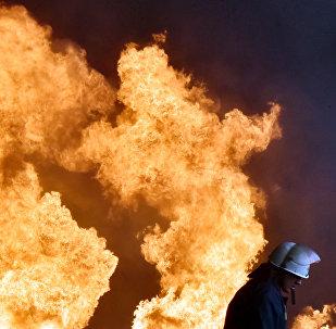 Um bombeiro ucraniano