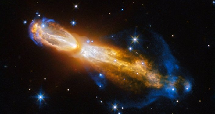 Foto feita por Hubble de uma estrela morrendo em nebulosa do Ovo Podre