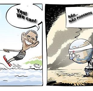 Obama desfruta suas férias