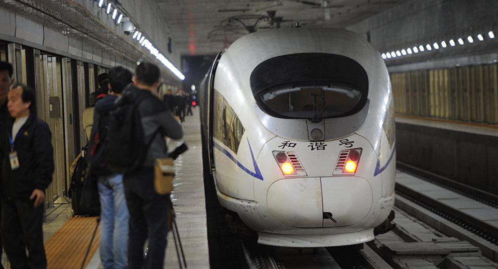 Trem de alta velocidade na China