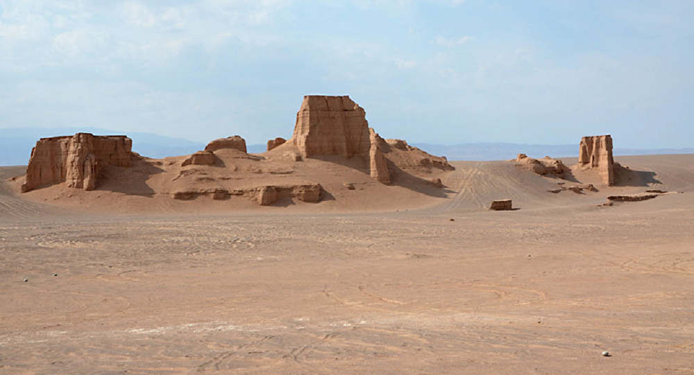 Deserto Dasht-e Lut, província de Kerman, no sudeste do Irã