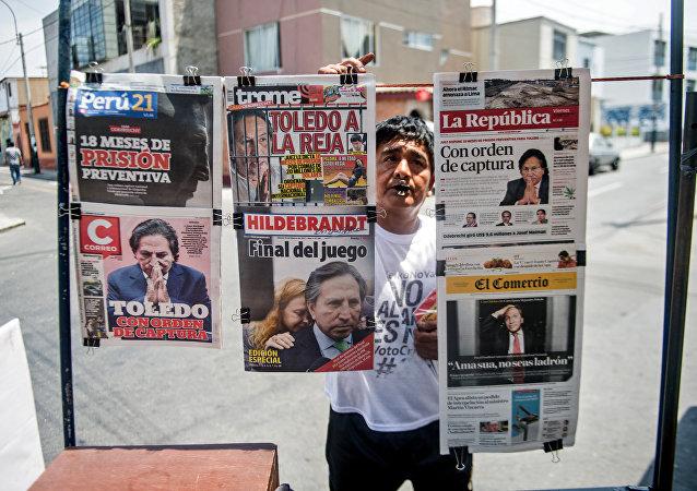 Alejandro Toledo, ex-presidente do Peru, procurado pela justça